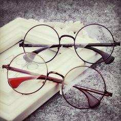 c5fc52ea7a Newest Decoration Plain Mirror Europe Men women Round Retro Metal  Eyeglasses Frames Korean Myopia Glasses Frame Optical Circle.