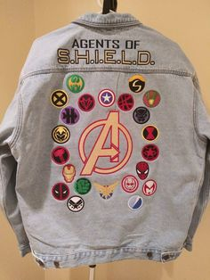 Marvel Universe : AVENGERS / AGENTS Of S.H.I.E.L.D. Superhero Jean Jacket