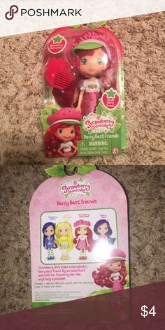 Brand new Strawberry Shortcake doll Includes a berry scented doll with outfit and hair accessory, 1 pair of shoes & comb Other