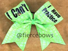 Cheer Bow by MyFierceBows on Etsy, $14.00