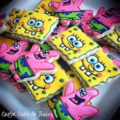 Spongebob & Patrick cookies by Custom Cakes By Tracee, via Flickr