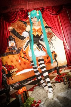 Adorable Halloween Version Of Hatsune Miku By Ely Cosplay 0008