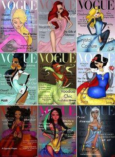 Claudette Violetta: Princesas: Revista Vogue