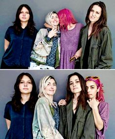 Warpaint at KCRW's Morning Becomes Eclectic, 4/8/2014.  Photo by Larry Hirshowitz.