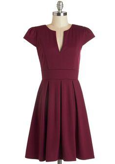 Meet Me at the Punch Bowl Dress in Berry | Mod Retro Vintage Dresses | ModCloth.com