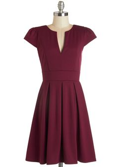 Meet Me at the Punch Bowl Dress in Berry | Mod Retro Vintage Dresses | ModCloth.com