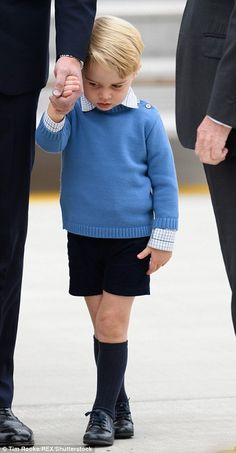 Prince George of Cambridge arrives at the Victoria Airport on September 24, 2016 in Victoria, Canada.