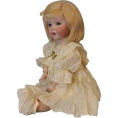 "19"" French Bisque c.1912 SFBJ 247 ""TWIRP"" Doll Correct Slant Hip toddler Body"