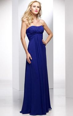 Cheap Floor-length Strapless Sleeveless Empire A-line Bridesmaid Dresses Free Measurement