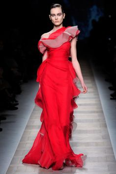 Valentino red was meant for Spanish dancers, Fall 2010