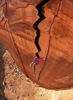 "Pamela Shanti Pack on a first ascent she named ""The Dark Passenger."" Photo: Andrew Burr"
