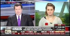 11/13/15 - Neil Cavuto decimates student's demands for 'free' college... Yeah, she's that kind of ignorant