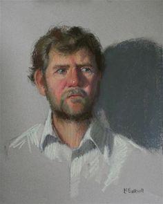 "Daily Paintworks - ""Pastel sketch of Tom"" - Original Fine Art for Sale - © Liz Balkwill"