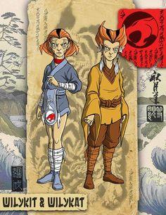 Artista mistura referências do clássico desenho dos anos 1980, Thundercats versão Samurai