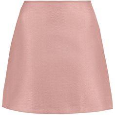 Marni Matelassé mini skirt (475 BRL) ❤ liked on Polyvore featuring skirts, mini skirts, antique rose, marni skirt, rose skirt, mini skirt, marni and short skirts