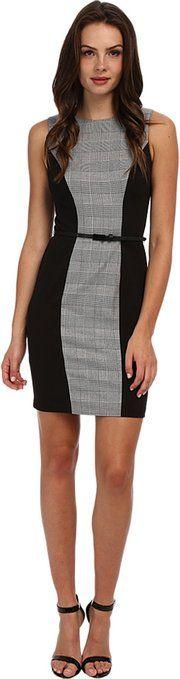 Calvin Klein Women's Plaid Lux Belted Sheath Black/Eggshell Dress $82.99 http://www.amazon.com/dp/B00Q5TT1ZK/?tag=httplorealbew-20
