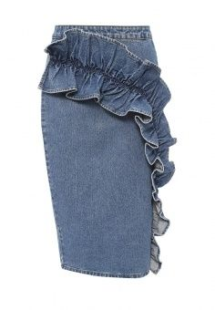 Юбка, LOST INK, цвет: синий. Артикул: LO019EWQLE72. Женская одежда / Юбки / Джинсовые юбки