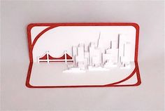 SAN FRANCISCO SKYLINE Pop Up 3D Card Home Decoration by BoldFolds, $25.00
