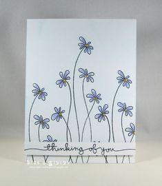 Bits & Pieces: CAS(E) THis Sketch - floral stamp from Penny Black Enamor stamp set crafts ideas flower Paper Art, Paper Crafts, Hand Drawn Cards, 257, Card Drawing, Paint Cards, Flower Doodles, Flower Stamp, Penny Black