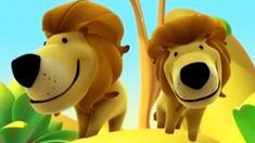 Alex na Selva   Desenhos animados para aprender os animais   Leão - Gorila - Tigre