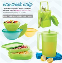 This week only ~ Spend $25 and get all this for only $49 http://my2.tupperware.com/tinaevans