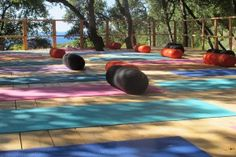 Ithaca, Greece yoga retreat with Ambuja Yoga Summer Outdoor Yoga, Outdoor Decor, Yoga Retreat, Greek Islands, At Home Workouts, Bliss, Pergola, Around The Worlds, How Are You Feeling