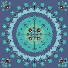 Mandala em Tecido Adesivo R$6,00