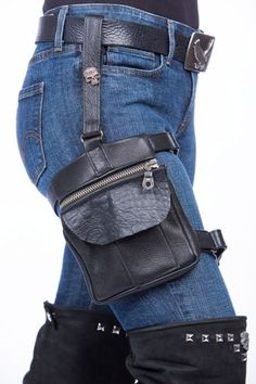 Leather Thigh Holster Bag | Lissa Hill Leather