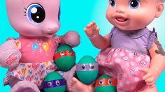 Куклы Пупсики Бэби Элайв Красим яйца к Пасхе Видео с куклами Игрушки для...