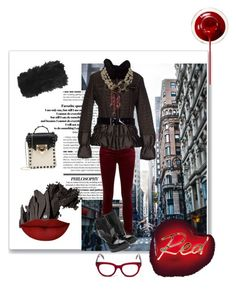 """""""Necklace: Worn Outside the Coat, Why Not?!?"""" by kjlnelson ❤ liked on Polyvore featuring Bobbi Brown Cosmetics, Anastasia Beverly Hills, AG Adriano Goldschmied, Alexander McQueen, Mabrun, CÉLINE, Valentino, Chanel and Topshop"""