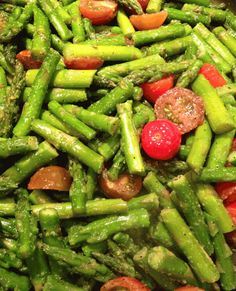 asparagus sautéed on to stove top - a quick, healthy low carb side dish!