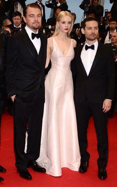 Carey Mulligan wears a pale Christian Dior dress