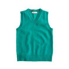 Boys' cashmere sweater-vest
