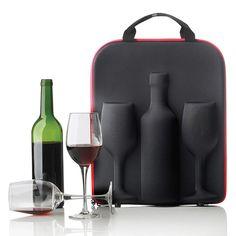 Кейс для вина с 2 бокалами Swirl