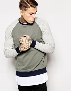 Stephen James ASOS Sweatshirt With Colour Block ❤️