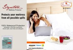 To ensure the protection of your mattress from staining and preventing it from becoming a breeding ground for bacteria and dust, Signature offers a waterproof protector that fits perfectly in a double size bed. log on to www. Mattress Protector, Dust Mites, How To Become, Bed, Stream Bed, Beds, Bedding