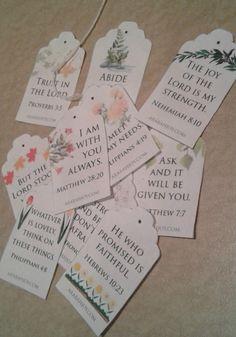 Scripture tea tag FREE printable