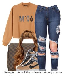 """""""7/14"""" by trinityannetrinity ❤ liked on Polyvore featuring Monki, Louis Vuitton and NIKE"""