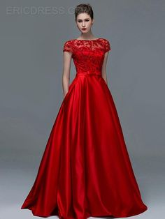Cheap short sleeve evening dresses, Buy Quality sleeved evening dresses directly from China evening dress Suppliers: Elegant Red Lace Short Sleeves Evening Dresses 2015 Sexy A-Line Sheer Boat Neck Keyhole Long Prom Dress Women Formal Women Gowns Sequin Evening Dresses, Evening Dresses With Sleeves, Evening Dresses Online, Cheap Evening Dresses, Evening Gowns, Dress Online, Sequin Dress, Embellished Dress, Evening Party