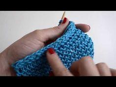 Como fazer uma borda em i-cord Knitting Kits, Knitting Stitches, Knitting Needles, Free Knitting, Knitting Patterns, Crochet Patterns, Finger Crochet, Wire Crochet, Thread Crochet