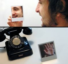 Polaroid Mirror.  Cool modern Polaroid inspired mirror design by Colin O'Dowd.