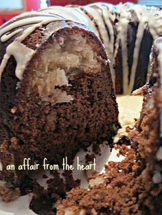 Chocolate Macaroon Tunnel Bundt Cake-Cake... starts with a boxed mix...