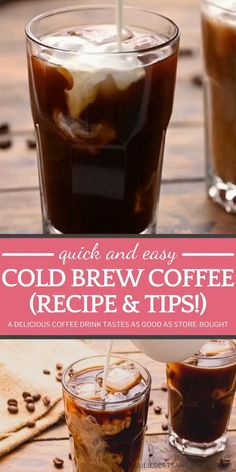 Hot Coffee Recipe At Home, Cold Brew Coffee Recipe, Making Cold Brew Coffee, Coffee Recipes, Cold Brewed Coffee, Homemade Cold Brew Coffee, Tips And Tricks, Cocoa, Cold Brew At Home