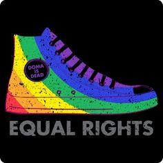 LGBT Rainbow Equal Rights Shirt (DOMA is DEAD Tee)