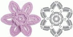 Share Knit and Crochet: Crochet flowers diagram 6