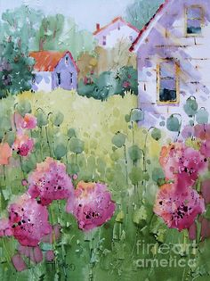 A gorgeous new Joyce Hicks watercolor! Wish I could master her ways of painting loose, yet conveying such detail!