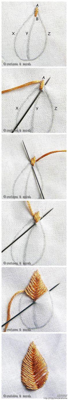 针法 刺绣 手工 精致 刺绣基础针法