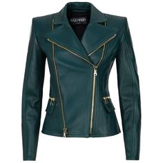 Balmain Biker Jacket ($3,530) ❤ liked on Polyvore featuring outerwear, jackets, coats, leather jackets, tops, moto jacket, zip up leather jacket, 100 leather jacket, biker jacket and real leather jacket