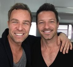 And last, but not least, a picture of the men from one generation up - Chris Argent, played by JR Bourne, and Peter Hale, played by Ian Bohen.