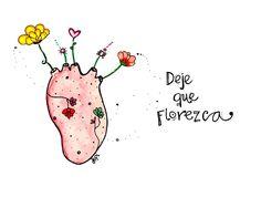 Alimenta tu corazón y hazlo florecer con buenas acciones. Ilustración de nuestra querida #JopiDibuja